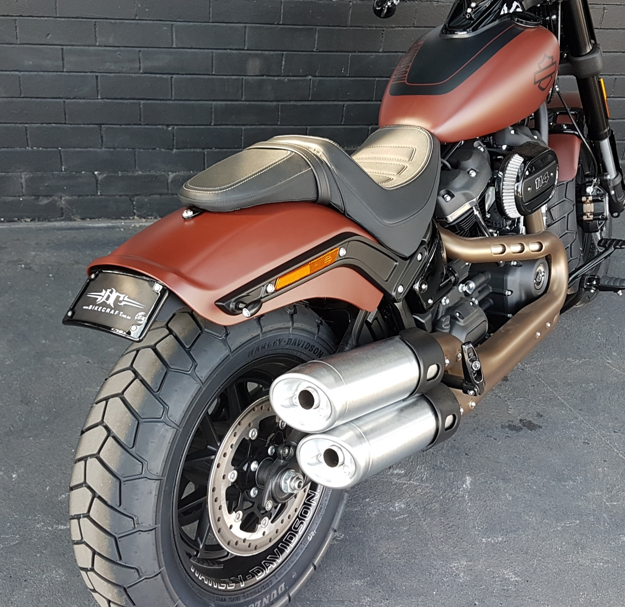 Picture of 2018 Harley Davidson Fat Bob-Bikecraft Fender Eliminator / Tail Tidy with integrated stop/tail lights