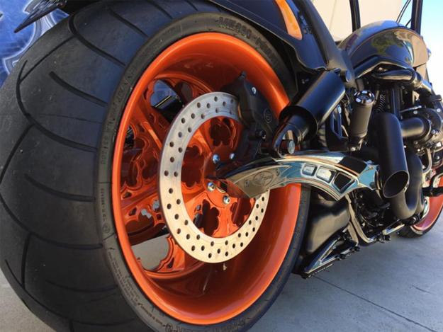 Picture of Custom Made Billet 300 Swingarm Kit for Harley Davidson VRod