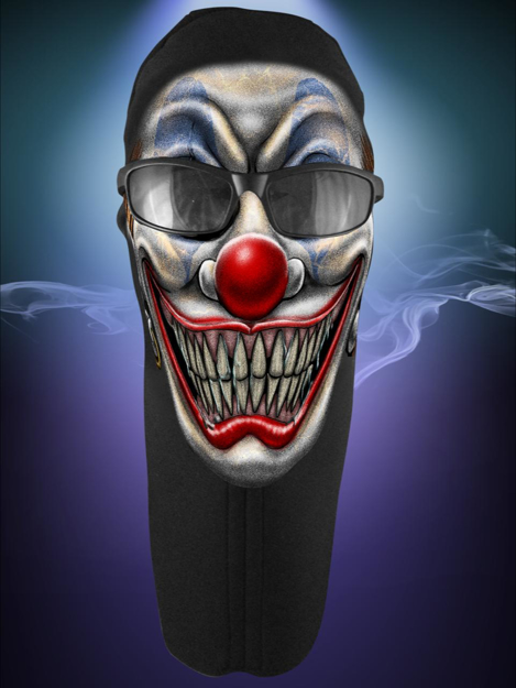 Picture of Wicked Wear Face Masks - Clown Colour