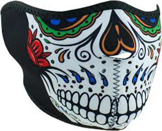 Picture of ZAN Headgear Neoprene Mask - Muerte Skull